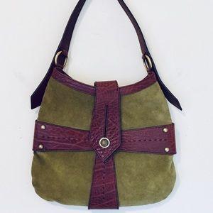 Vintage Yve Saint Lauren Suede Handbag